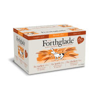 Forthglade Complete Adult Multipack with Brown Rice Dog Food 395g x 12