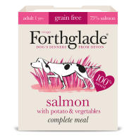 Forthglade Grain Free Complete Complete Salmon with Potato & Veg Grain Free Dog Food 395g x 7