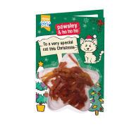 Good Girl Cat Meaty Treats Christmas Card