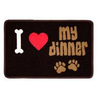 Pet Rebellion I Love My Dinner Dog Mat