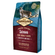 Carnilove Sensitive & Long Hair Salmon Adult Cat Food 6kg