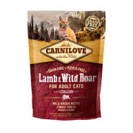 Carnilove Sterilised Lamb & Wild Boar Adult Cat Food