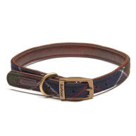 Barbour Wool Touch Tartan Dog Collar Small