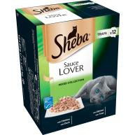 Sheba Sauce Lover Mixed Collection Adult Cat Food Trays 85g x 12