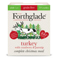 Forthglade Complete Christmas Turkey with Cranberry & Parsnip Grain Free Wet Dog Food Trays