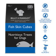 Billy & Margot Fish Skin Cubes 60g