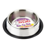 Classic Stainless Steel Non Tip Cat Dish 160mm