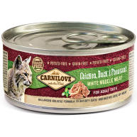 Carnilove Chicken, Duck & Pheasant Wet Adult Cat Food 100g x 12
