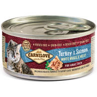 Carnilove Turkey & Salmon Wet Adult Cat Food 100g x 12