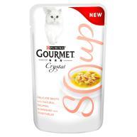 Gourmet Crystal Soup Salmon & Vegetable Adult Cat Food  40g x 32