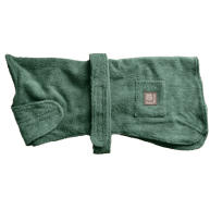 "Danish Design Green Towelled Dog Robe 16"""