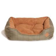 Danish Design Green Tweed Snuggle Dog Bed