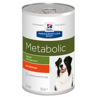 Hills Prescription Diet Metabolic Weight Management Chicken Dog Food 370g x 12