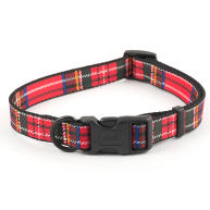 Ancol Red Tartan Nylon Dog Collar Size 1-2 Red