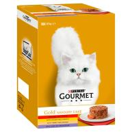 Gourmet Gold Meat & Vegetables Savoury Cake Adult Cat Food 85g x 12