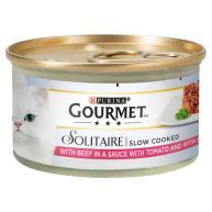 Gourmet Solitaire Beef in Tomato Sauce Cat Food