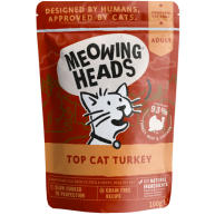 Meowing Heads Top Cat Turkey Wet Cat Food 100g x 10