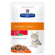 Hills Prescription Diet Feline CD Low Calorie Pouches Chicken 85g x 96