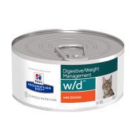 Hills Prescription Diet WD Digestive & Weight Cat Food Chicken Cans 156g x 72