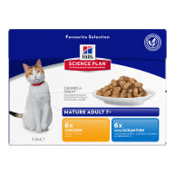 Hills Science Plan Mature 7+ Pouches Wet Cat Food Favourite Selection 85g x 72