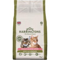 Harringtons Complete Salmon with Rice Dry Adult Cat Food 2kg