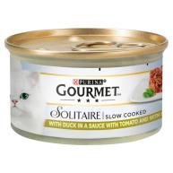 Gourmet Solitaire Duck in Sauce Cat Food 85g x 12