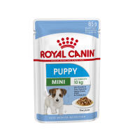 Royal Canin Mini Wet Puppy Food Pouches in Gravy 85g x 72