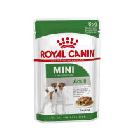 Royal Canin Mini Adult Wet Dog Food Pouches in Gravy