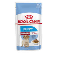 Royal Canin Medium Puppy Pouches in Gravy 140g x 40
