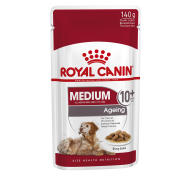 Royal Canin Medium Wet Ageing Senior Dog Food Pouches in Gravy 140g x 40