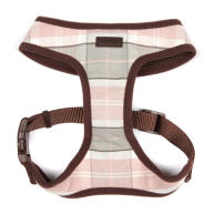 Barbour Dog Harness in Pink & Grey Tartan Small