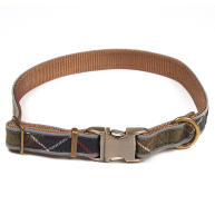 Barbour Reflective Tartan Dog Collar Small