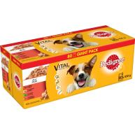 Pedigree Vital Mixed Selection in Jelly Wet Adult Dog Food 100g x 80