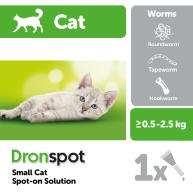 Dronspot Cat Worming Treatment Small Cats 0.5-2.5kg - 1 Pipette NFA-CS
