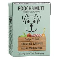 Pooch & Mutt Turkey and Duck Adult Wet Dog Food Cartons  375g x 24