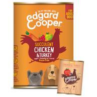 Edgard & Cooper Chicken & Turkey Grain Free Wet Adult Dog Food 400g x 6