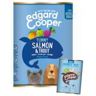 Edgard & Cooper Salmon & Trout Grain Free Wet Adult Dog Food 400g x 6