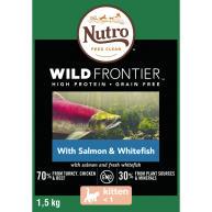 Nutro Wild Frontier Salmon & Whitefish Dry Kitten Food
