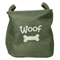 Rosewood Forest Green Canvas Pet Toy Basket