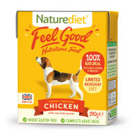 Naturediet Feel Good Chicken Wet Adult Dog Food Carton 390g x 72 Feel Good