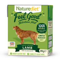 Naturediet Feel Good Lamb Wet Adult Dog Food Cartons 390g x 18 Feel Good