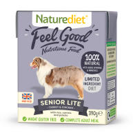 Naturediet Feel Good Senior Lite Wet Adult Dog Food Cartons 390g x 18 Feel Good