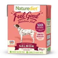 Naturediet Feel Good Salmon Adult Wet Dog Food Cartons 390g x 18 Feel Good