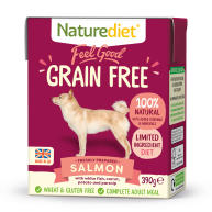 Naturediet Feel Good Grain Free Salmon Wet Adult Dog Food Cartons