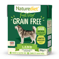 Naturediet Feel Good Grain Free Lamb Wet Adult Dog Food Cartons