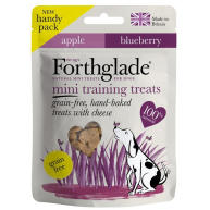 Forthglade Grain Free Hand Baked Cheese, Apple & Blueberry Mini Training Dog Treats 50g