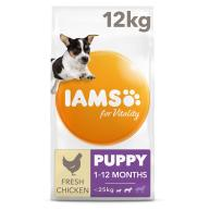 IAMS for Vitality Chicken Small & Medium Breed Puppy Dry Dog Food 12kg x 2