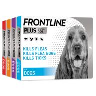 FRONTLINE Plus Flea & Tick Treatment Dog Small Dog (2-10kg) 3 pack