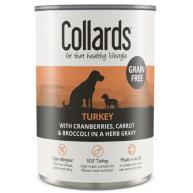 Collards Grain Free Turkey In Gravy Wet Adult Dog Food 390g x 12