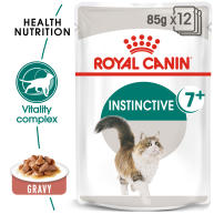 Royal Canin Instinctive Adult 7+ In Gravy Wet Cat Food Pouches 85g x 12